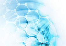 DNA-de achtergrond van de moleculestructuur Stock Foto