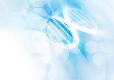 DNA-de achtergrond van de moleculestructuur Stock Afbeeldingen