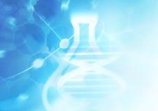 DNA-de achtergrond van de moleculestructuur Stock Foto's