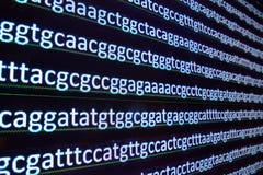DNA de la secuencia imagen de archivo