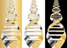DNA de oro Fotografía de archivo