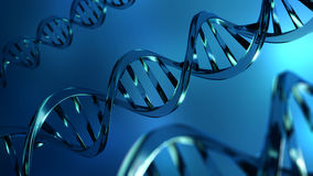 DNA del cristallo Immagini Stock Libere da Diritti