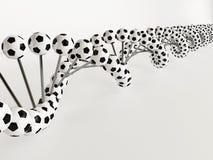 DNA del fútbol Imagenes de archivo