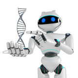 DNA del robot Imagen de archivo libre de regalías