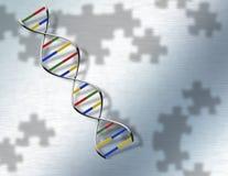 DNA del rompecabezas en el acero Fotografía de archivo libre de regalías