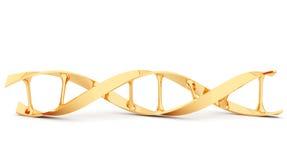 DNA dell'oro. illustrazione 3d, isolata. Fotografia Stock Libera da Diritti