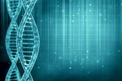DNA delle cellule nel fondo blu Fotografia Stock