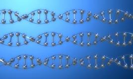 DNA IN DER REIHE lizenzfreie stockfotografie