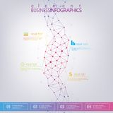 DNA des modernen Designs auf grauem Hintergrund, Konzept Stockfoto