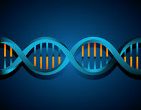 DNA design, vector illustration. Royalty Free Stock Photography
