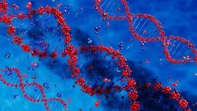 DNA destruida por las sustancias químicas dañinas stock de ilustración