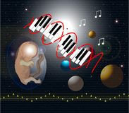 DNA di musica Fotografie Stock