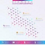 DNA di progettazione moderna su fondo grigio, modello di concetto per il infographics Fotografia Stock