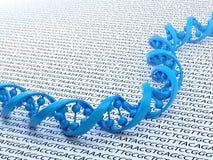 DNA, die Konzeptabbildung sequenziell ordnet Lizenzfreie Stockfotos