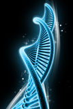 Dna. Digital illustration of dna in color background Royalty Free Stock Image