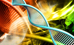 Dna. Digital illustration of a dna in colour background royalty free stock image