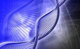 DNA. Digital illustration of a dna in colour background royalty free illustration