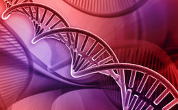 Dna. Digital illustration of a dna in digital background royalty free stock photos