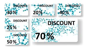 Dna discount cards. Colorful digital Illustration Royalty Free Stock Image