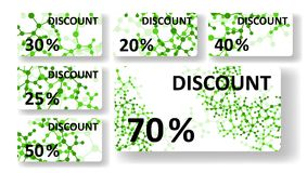 Dna discount cards. Colorful digital Illustration Stock Images