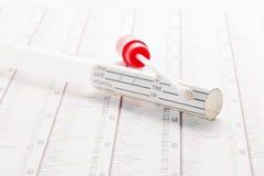DNA, DNS test, veegt test af Stock Afbeelding