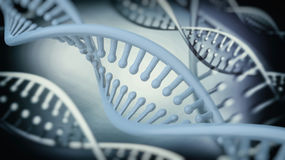DNA Double Helix abstract background. 3D rendering vector illustration