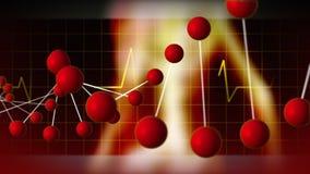 DNA e frequenza cardiaca royalty illustrazione gratis
