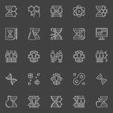 DNA ed icone lineari della genetica illustrazione vettoriale