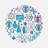 DNA ed illustrazione della genetica illustrazione vettoriale