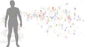 DNA ed uomo Fotografia Stock