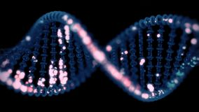 DNA sequencing / editing concept. DNA editing concept. 4K UHD animation stock video footage