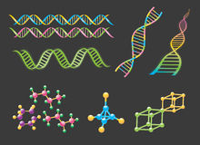 DNA elements Royalty Free Stock Photos