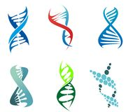 DNA en molecules stock illustratie