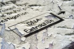 DNA extraction. Close up of DNA extraction Stock Photography