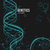 DNA, fondo concettuale genetico Immagine Stock