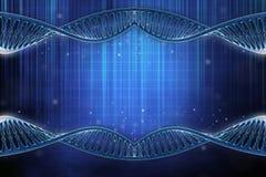 DNA frame. 3D illustration of a DNA frame in beautiful blue background Vector Illustration