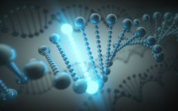 DNA Futuristic Concept Stock Photography