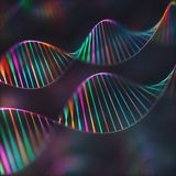 DNA Genetic Code Colorful Background stock photography