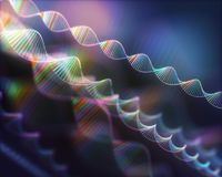 DNA Genetic Code Colorful Background royalty free stock image
