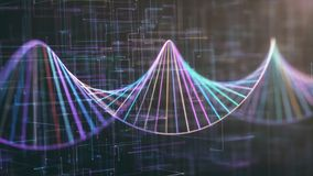 DNA Genetic Code Colorful royalty free stock photos