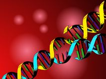Dna genetic engineering. Illustration background of the DNA helix as symbol of genetic engineering stock illustration