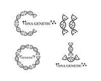 Dna genetic logo icon illustration royalty free illustration