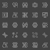 DNA and genetics linear icons Royalty Free Stock Images