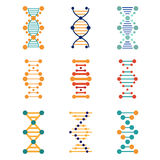 DNA, genetics vector icons Stock Photo