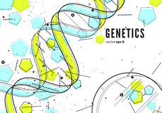 DNA, genetische conceptuele achtergrond Stock Afbeeldingen