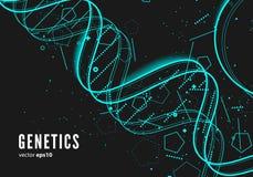 DNA, genetische conceptuele achtergrond Stock Fotografie