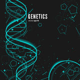 DNA, genetische conceptuele achtergrond Stock Afbeelding