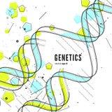 DNA, genetische conceptuele achtergrond Stock Foto's