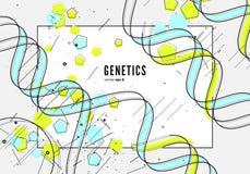 DNA, genetische conceptuele achtergrond Royalty-vrije Stock Afbeeldingen