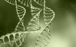 DNA genome research. DNA molecule structure. 3D double helix illustration royalty free illustration